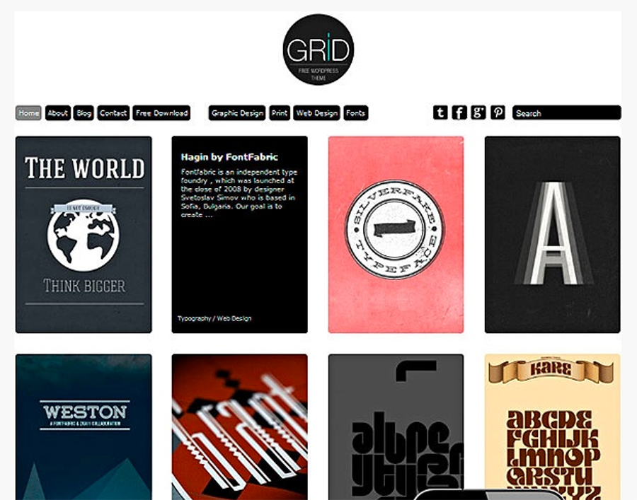 Grid-wordpress